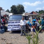 Dua Desa di Pandeglang Alami Kekeringan,        PT. BWJ Berikan Bantuan Air Bersih